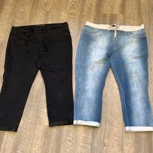 TWO No Boundaries Pull On Crop Jeggings Jeans XL